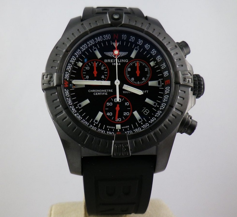 replica Breitling Avenger Seawolf watch front view